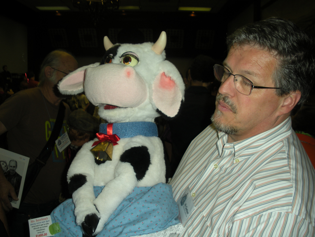 Al Getler with Cow Puppet