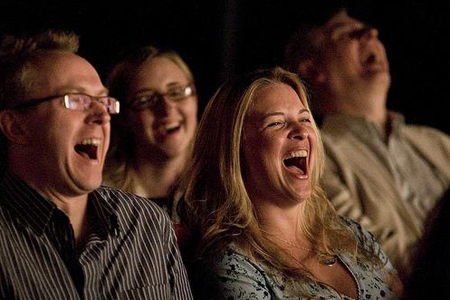 Audience Howling with Laughter