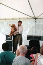 Dale performing kid show at fair