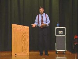Dale Brown giving a teacher in-service presentation.