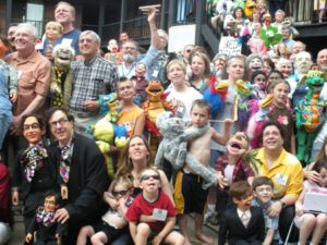 Closeup of folks in Group Photo at the 2009 Ventriloquist Convention